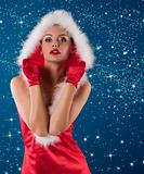 red and sexy santa claus girl