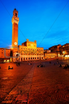 Palazzo Pubblico and Torre del Mangia in Siena