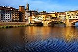 Ponte Vecchio at sunset, Florence