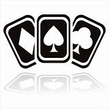 black casino cards icon