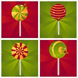 christmas lollipop backgrounds