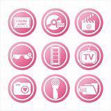 pink cinema signs
