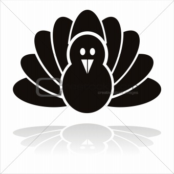 black turkey bird icon
