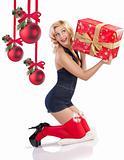 sensul girl with gift