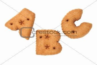 ABC alphabet chocolate cookies