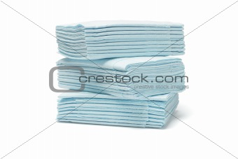 Blue folded tissue papers