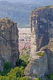 Meteora Rocks and Kalampaka Town