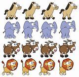 Animal Walking animations.