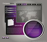 Web site design template 46