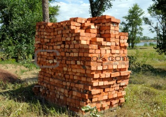 Bricks on pallets