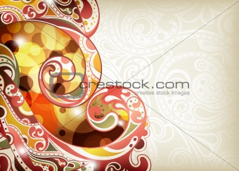 Abstract Scroll Background
