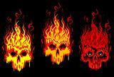 Burning skulls
