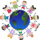 multi cultural children around the world