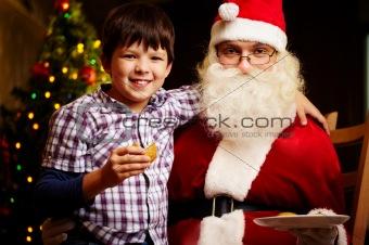 Boy and Santa