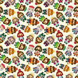 cartoon king seamless pattern