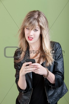 Annoyed Girl On Phone
