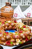 Traditional moldavian round loaf