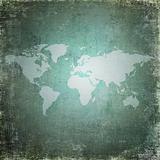 Grunge world map