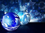 New year balls over bright background