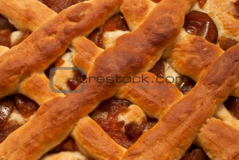 The pie with candied pears