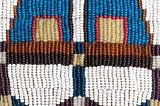 Part of authentic Indian beaded collar. Texture.