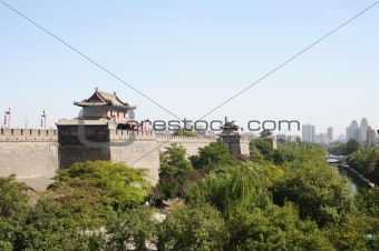 Ancient city wall of Xian, China