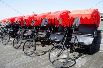 Rickshaws in Xian
