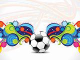 abstract football background with magical wave