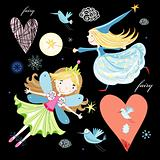fun fairy and birds