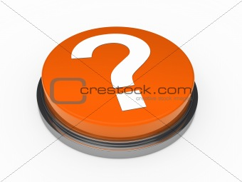 3d button orange question mark