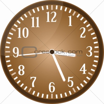 Vintage clock grunge isolated on vector background
