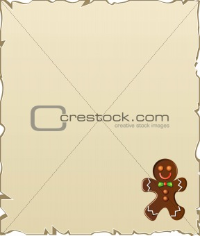 background with gingerbread man