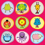 Cute animals icons for children