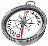 positive negative concept compass