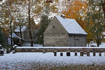 Autumn Snow at Ephrata Cloister