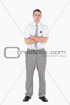 Portrait of an office worker with the arms crossed