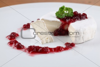 Camembert with cranberry jam