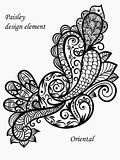 vector paisley design element