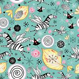 funny pattern with zebras