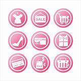 pink shopping signs