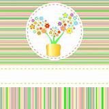 vector beautyful summer flower in pot with copyspace