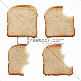 Eating a slice of bread