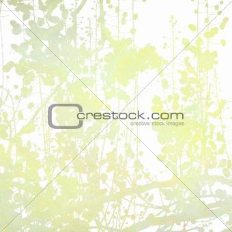 Watercolor Flowers in Grey Art Background