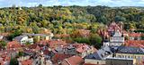 Panorama of a Vilnius autumn season