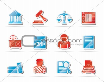 Justice and Judicial System icons