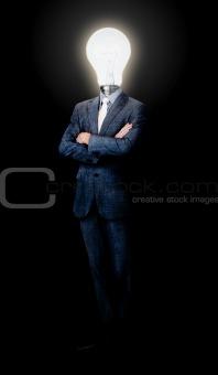 Assertive caucasian businessman standing