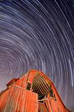 Abandoned Barn and Star Trails
