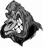 Gorilla or Ape Mascot Cartoon
