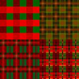Set plaid patterns, tartan, fabric textile