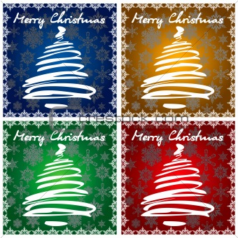 4 Christmas Greeting Cards
